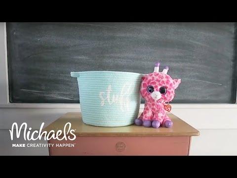 DIY Stenciled Basket | Sugar Bee Crafts | Michaels