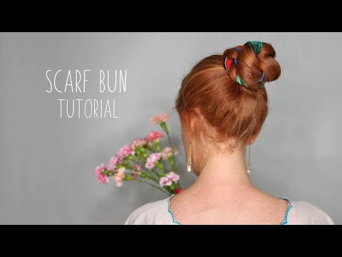 SCARF BUN TUTORIAL- Easy Summer Hairstyle!