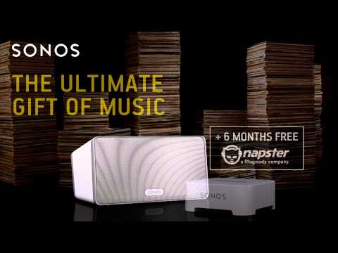 Sonos Music System Bundle Package With Free Napster Subscription From Unlimited Audio