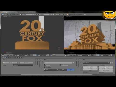 Blender - Eigenes 20th Century Fox Intro erstellen [Deutsch]
