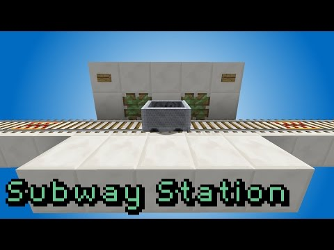 Minecraft: The Subway Style Minecart Station