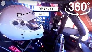 Ride in a Race Car in 360° VR with a Senior