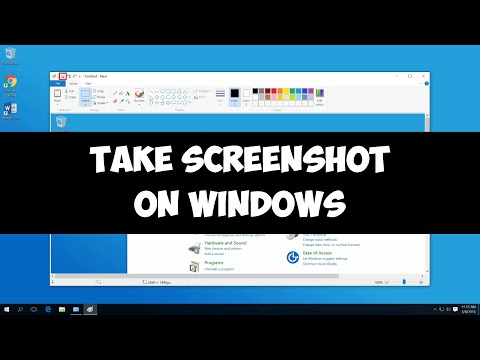 Take screenshot on Windows