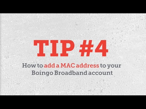 How To Add a MAC Address to Your Boingo Broadband Account