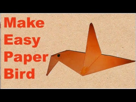How To Make an Origami Flapping Bird - Easy Paper Bird Tutorial