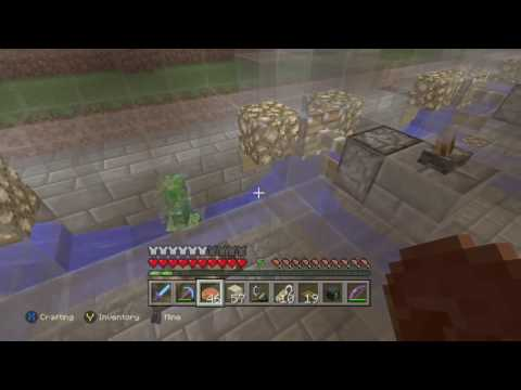 Charged Creeper in survival minecraft on Xbox one edition
