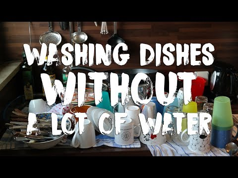 How To Wash Dishes With Very Little Water For Dry Camping in an RV