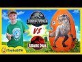 Jurassic World Fallen Kingdom Vs Jurassic Park Dinosaurs Giant T Rex Dinosaur Surprise Egg Toys