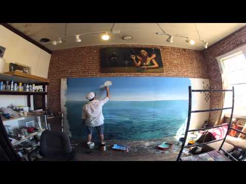 Learn to paint an OCEAN PARADISE mural with JOE PAGAC!