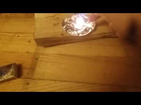 Homemade copper thermite reaction