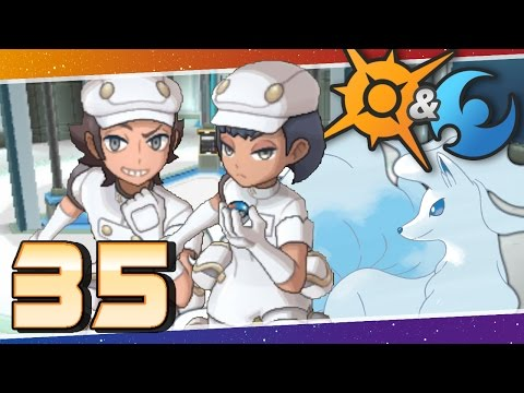 Pokémon Sun and Moon - Episode 35 | Trouble in Aether Paradise!
