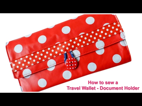 How to sew a Travel Wallet - (Free Pattern)