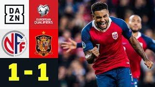Last-Minute-Norweger vermiesen Spaniern die Party: Norwegen - Spanien 1:1 | EM-Quali | DAZN