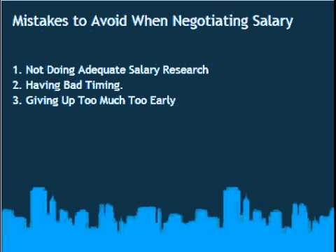 Mistakes to Avoid When Negotiating Salary Offer