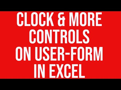 Clock & more controls on user-form in Excel