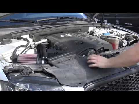 Installing an aftermarked cold air intake on Audi A4 B8