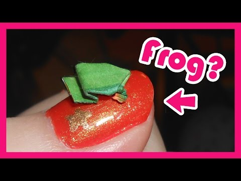 How to make an Origami Jumping Frog | Extreme Beginners Tutorial