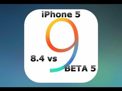 iOS 9 Beta 5 vs 8.4 on iPhone 5 (iOS 9 Public Beta 3)