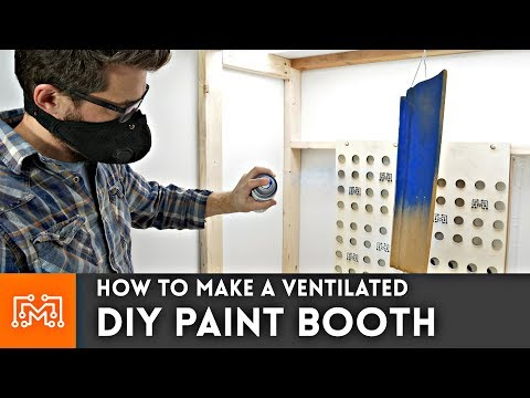 How to make a DIY Ventilated Paint Booth