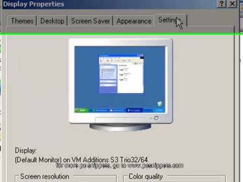 How to change the screen resolution in Windows XP and Windows 7