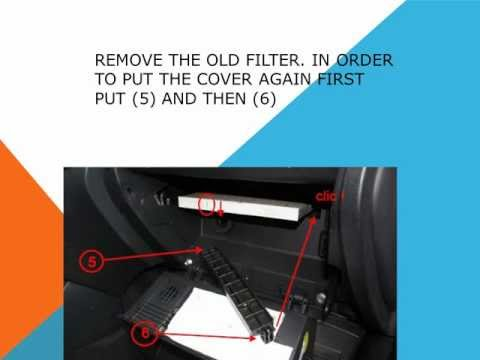 How to replace the air cabin filter   dust pollen filter on a Hyundai i30