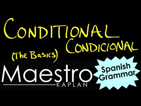 CONDITIONAL TENSE: How to form (conjugate) verbs