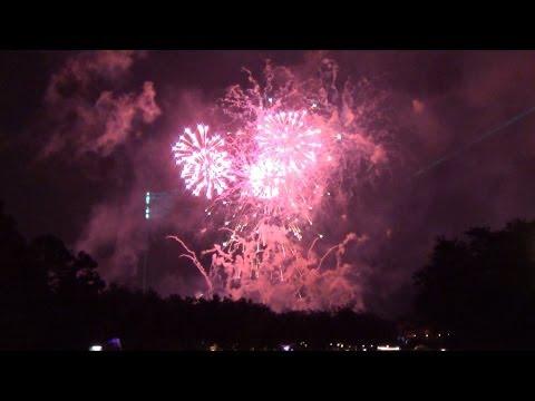 Epcot New Years Eve Fireworks Finale 2014 from The International Gateway Bridge, Walt Disney World