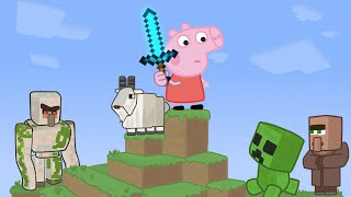Peppa vs Minecraft Animation