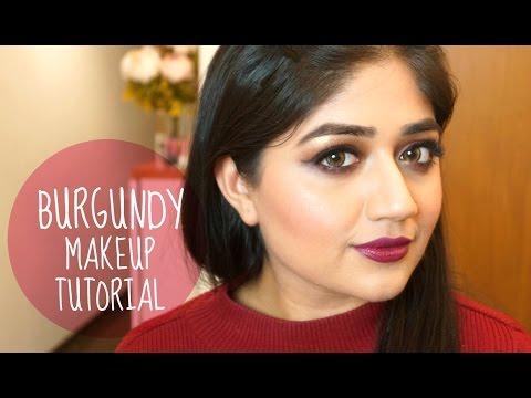 Burgundy Makeup Tutorial - Smoky Eyes with Dark Lips | corallista