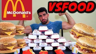 20 Crispy Mcbacon CHALLENGE - 11000KCAL cheat meal man vs food