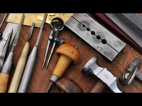 Hammer and Chisel Hand Engraving - Tools and Workspace