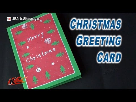 How To Make Easy Christmas Card |  School Project for Kids | JK Arts 826
