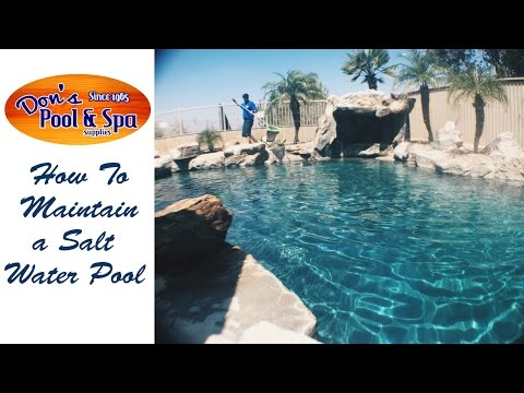 How To Clean a Salt Water Pool || Don's Pool And Spa Supplies