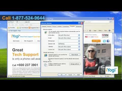How to set Internet Explorer® 8 as default web browser on Windows® XP