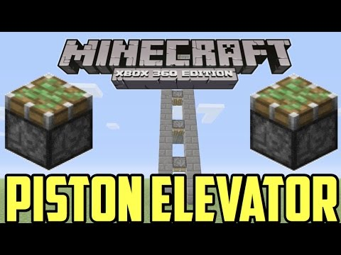 How to make a piston elevator in Minecraft [ Xbox 360 / Xbox One / Ps3 /Ps4 / Wii u]
