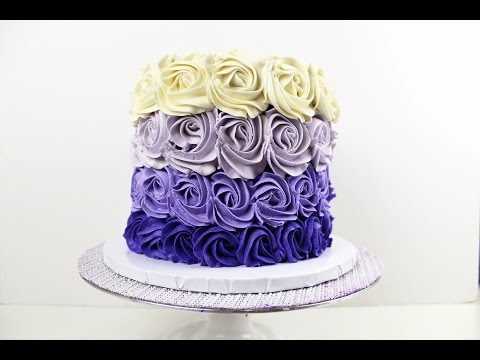 Buttercream Roses  Cake Tutorial I CHELSWEETS