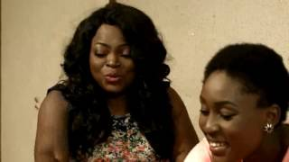 VIDEO VIXEN: Jenifa thinks that she has found a solution to the heavy debt she has accrued when she comes across a poster on campus calling for video vixens, however Toyosi bursts her bubble.
