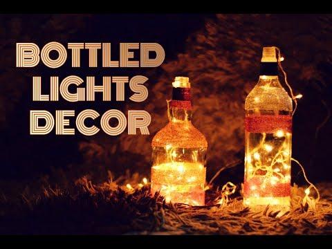 DIY Home Decor | Quick & Easy Bottle Lights For Diwali