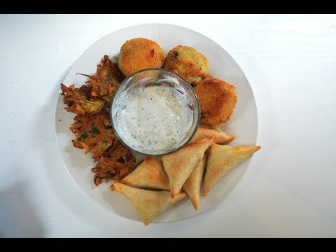 Ramadan Snacks - Samosa, Egg Kebab, Pakora Vegetarian