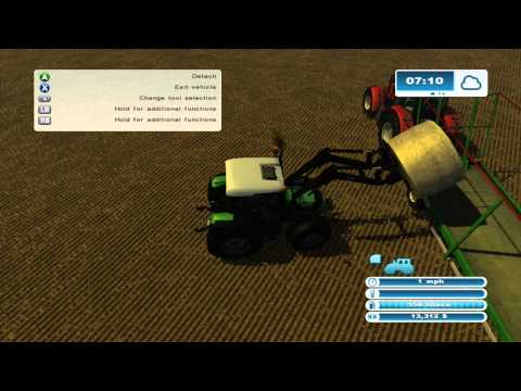 Farming Simulator 2013 Xbox 360 Lets Play ep.19 spending the money and trying out round bales