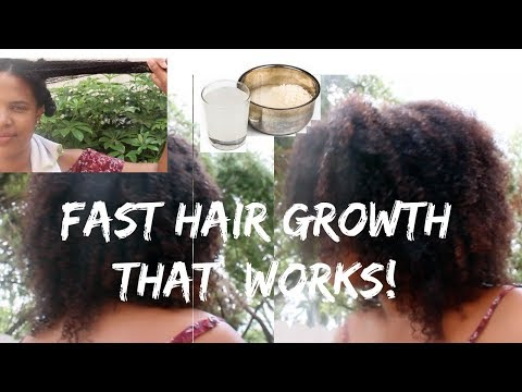 How to Grow Hair Fast and LONG! RICE WATER for Hair Growth! Results and Experience