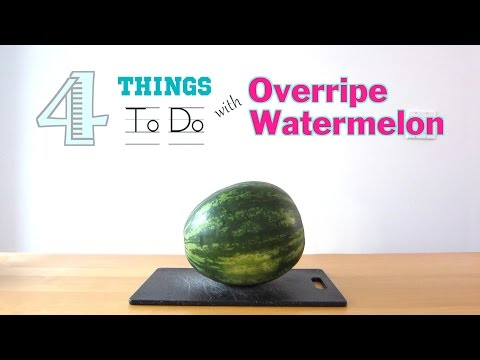 4 Things To Do With Overripe Watermelon
