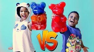 GIANT GUMMY BEARS vs Bad Baby Shiloh and Shasha - Gummy Food vs Real Food - Onyx Kids