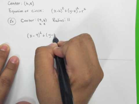 Find the center-radius form of the equation of the circle.