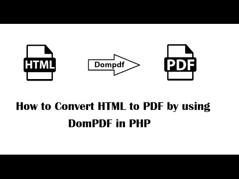 How to Convert HTML to PDF by using DomPDF in PHP