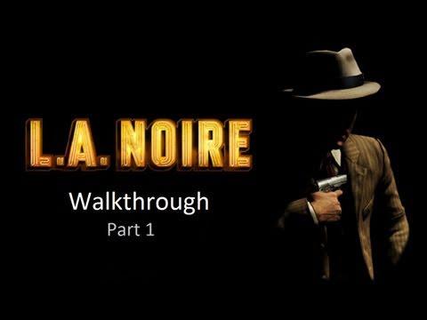 LA Noire Walkthrough: Case 1 - Part 1 + Giveaway [1080p HD] (PS3/XBOX 360) [Gameplay]
