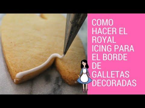 Como hacer el royal icing para el borde de galletas decoradas