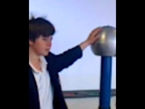 static electric ball makes your hair stand up
