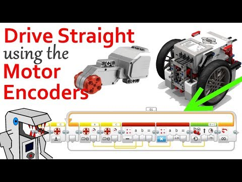 How to Make your FLL Robot Drive Straight - EV3 Motor Encoders