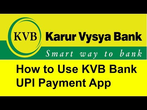 How to Use KVB UPI Payment App | Tamil Banking